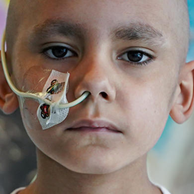 One small child cannot beat cancer on his own