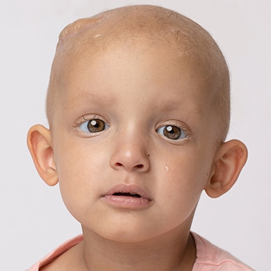 Only two years old and already battling cancer
